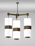 Phoenix Series 3-Arm Cluster Pendant Church Light Fixture