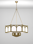 Roselle Series 2-Tier Large Pendant Church Light Fixture