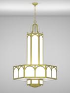 Raleigh Series 3-Tier Large Pendant Church Light Fixture