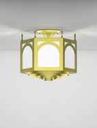 Raleigh Series Ceiling Mount Church Light Fixture