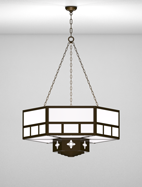 Richmond Series 2-Tier Large Pendant Church Light Fixture