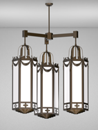 Richmond Series 3-Arm Cluster Pendant Church Light Fixture