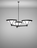 Spokane Series 3-Arm Cluster Pendant Church Light Fixture