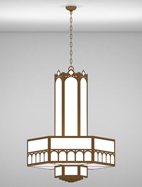 Taos Series 3-Tier Large Pendant Church Light Fixture
